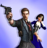 Booker and Elizabeth 3D Render by toughraid3r37890