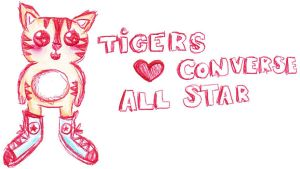 Tigers love converse allstar by expectatinqs