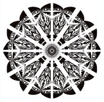 Mandala in black and white by Tallis