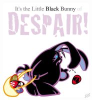 Black Bunny of Despair by Gib-Art-and-Pinups