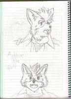 Arthur the wolf by Master-wolf149
