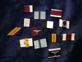Assorted Ribbon Bars Steampunk Medal by SteamworkMedals