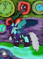Clockwork as a Alicorn from mlp by littlewashu45