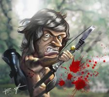 Rambo Fan Art by vp021