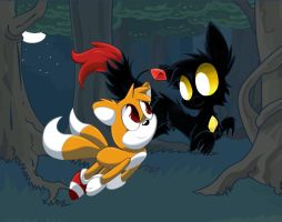 Tails doll and minosis by mordecairigbylover