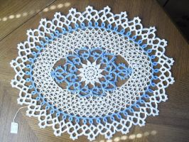 Island in the Sky Doily by JeffrettaLyn