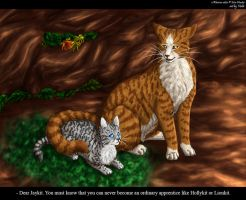 Jaykit and Leafpool by Vialir