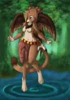 Nokomis the Griffin by EnvYami