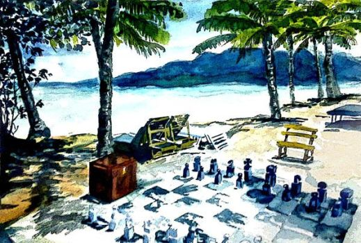 Beach and Chess by linkerst