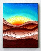 Abstract Landscape: Rainbow Sky, Brown Mountains by Eccentric-Indigo