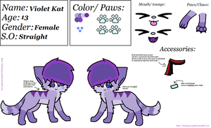 Violet's ref sheet {update} by Violetkay214