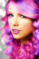 Taylor Swift in Pink by SillySilhouette