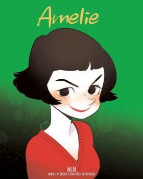 Amelie, from movie Amelie by MINthehuman