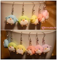 Rainbow pastel penguins by decoland