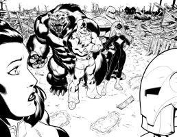 Hulk 1 Double page spread. by DexterVines