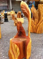 owl carving by Chainsaw-M-Carvings