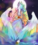 :Rainbow and Starlite: by Asher-Bee