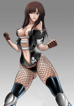 OC Commission- Post Rookie fighter by mitgard-knight