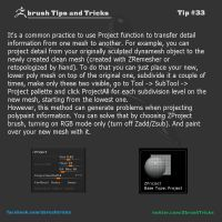 Tip#33 Project All and ZProject brush by FuriKar