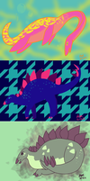 Jurassic June Palettes by RedVioletPanda
