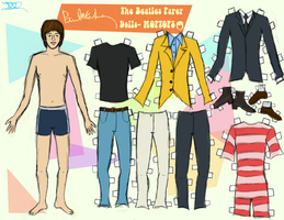 PAUL MCCARTNEY PAPER DOLL by 89000007ANL
