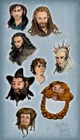 The Hobbit - Sketches by carcadann