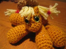 Mini Applejack Plushie Amigurumi 2 by RTakeshi