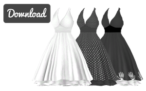 [MMD] MARILYN MONROE DRESS [+DL] by Sims3Ripper