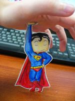 Paper Superman by pettyartist