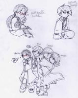 DP-HP chibis by WickedGhoul