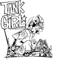 Tank Girl- Complete lineart by CTraise