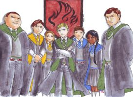 Malfoy's Dragon Army by dinosaurusgede