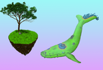 Land Scape Whale by EvilBeanz13