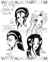 The Many HStyles of Jade Chan by alaer
