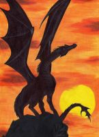 Dragon en el horizonte by Die-Rache