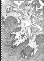 Spider-man B and W by PJBhavsar