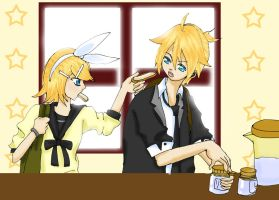 Rin and Len- Back to School by crimson-morning