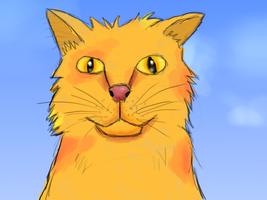 Toon ginger cat by Benderxable