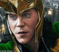 Loki - It's too late... (colour pencils) by Quelchii