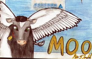 when cows fly (close up) by StephieDim