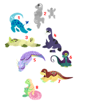 [Auction] // Cute lizards! \\ CLOSED by RallenLover293882883