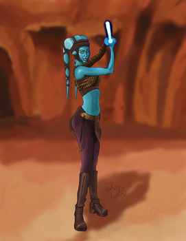 Aayla on Geonosis by Cadian-9