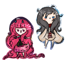 Chibi GIFTS - YUMMZI and xTsuguro by BubbIeBunny