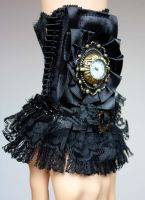 Black ruffle cuff watch by Pinkabsinthe