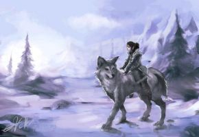 Random Drawing # 15 Arya Stark by Psycuror
