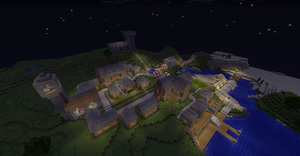 My minecraft village by micro266