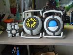 Cube, Space, Wheatley by Anna-Kitsune
