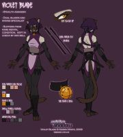 Colour ref - Violet Blade by funkyalien