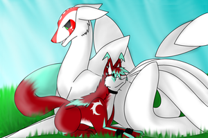 Friends? Collab with Cinderlover by Shorty-Greydragon
