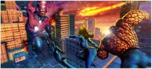 The coming of Galactus by Valzonline